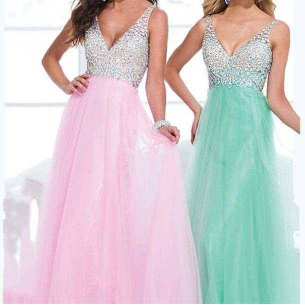 dress sparkly dress blue dress pink dress