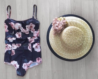 swimwear floral navy summer floral swimwear