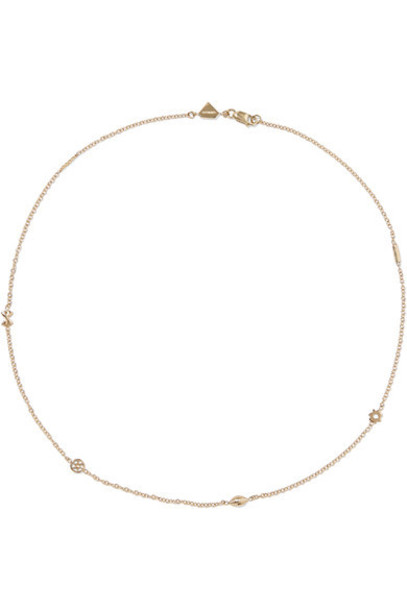 Alison Lou mini necklace gold necklace gold jewels