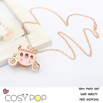 jewels necklace pendant statement necklace accessory womens accessory jewelry chain gold chains phone accessory gold necklace kawaii pink baby pink girly wishlist romantic cute