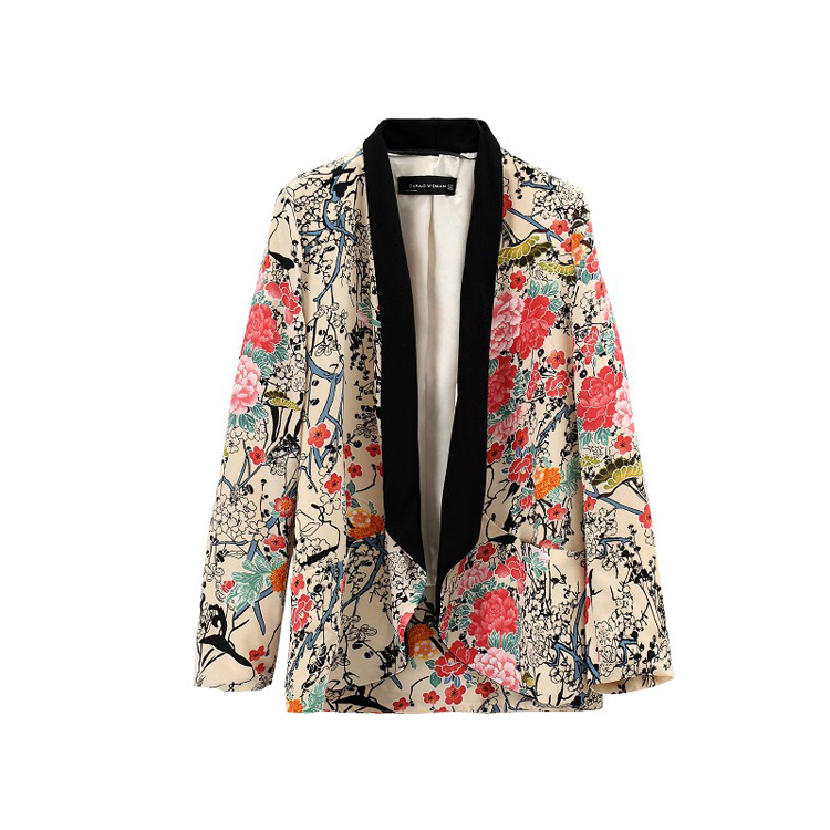 Aliexpress.com : Buy 2014 Spring New Street Japanese Flower za Floral Kimono Jacket Women Casual Fashion Hit Color Floral Print Blazers Free Shipping from Reliable jacket blazer women suppliers on Vogue Official Online Shop
