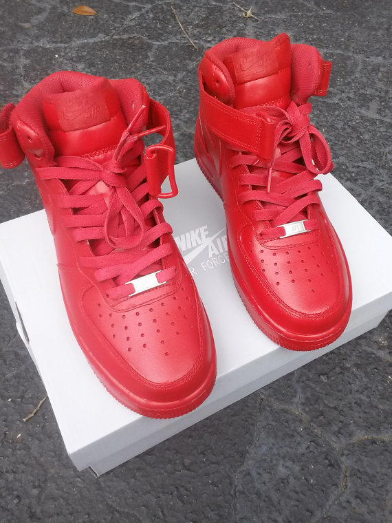 All Red Air Force One Shoes