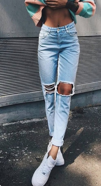 68803e073e7 jeans ripped jeans denim distressed denim ripped mom jeans boyfriend jeans  girlfriend jeans destroyed boyfriend jeans