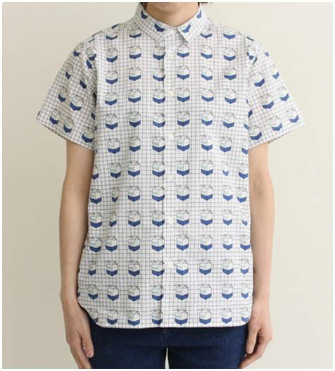 Kawaii milk box pattern blouse shirt from mola_mola on storenvy