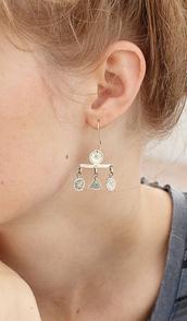 earrings,silver,jewels