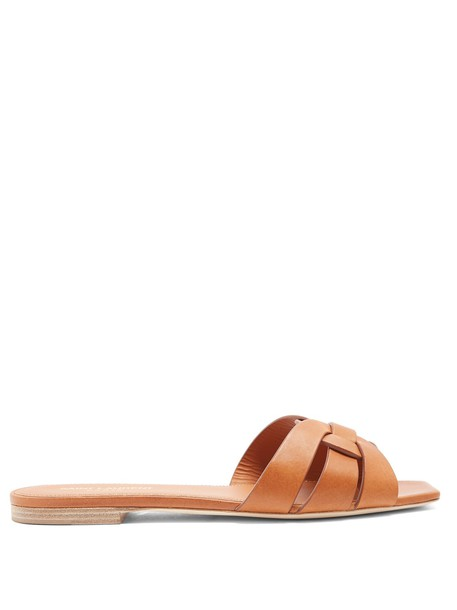 Saint Laurent leather tan shoes