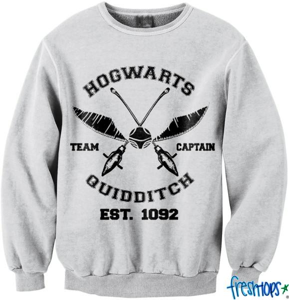 Hogwarts Crew Neck   fresh-tops.com