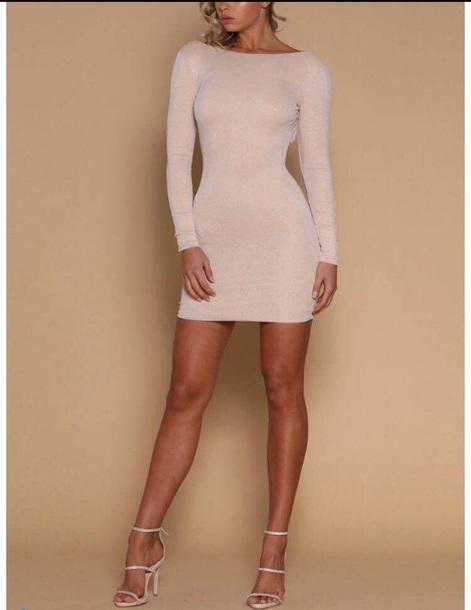 dress white glitter