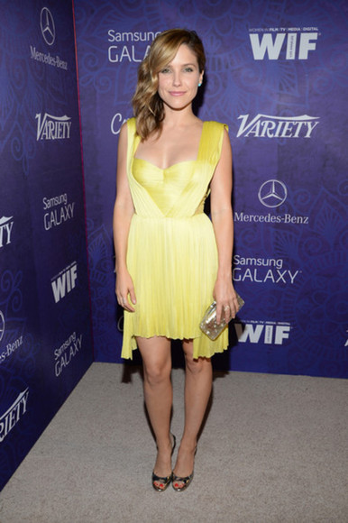 sophia bush yellow dress dress