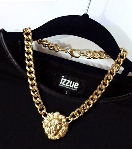 N101 Lion head coarse necklace VINTAGE collarbone chain necklace B6-in Chain Necklaces from Jewelry on Aliexpress.com
