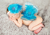 jewels,headband,turquoise jewelry,rhinestones,blue wings,accessories,baby headband