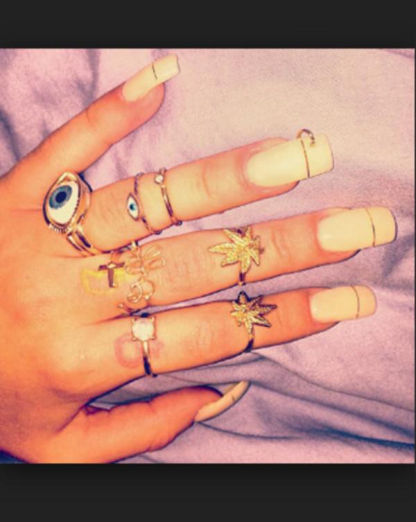 jewels nail polish ring