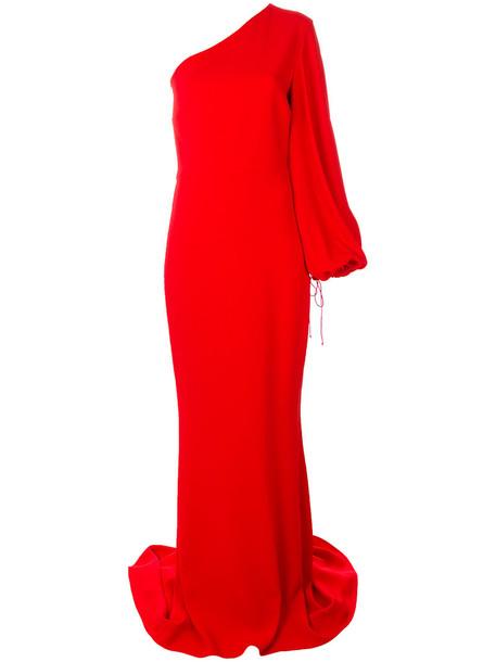 gown women spandex silk red dress