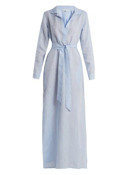 POUR LES FEMMES dress night dress cotton blue