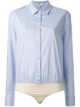 bodysuit women spandex cotton blue underwear