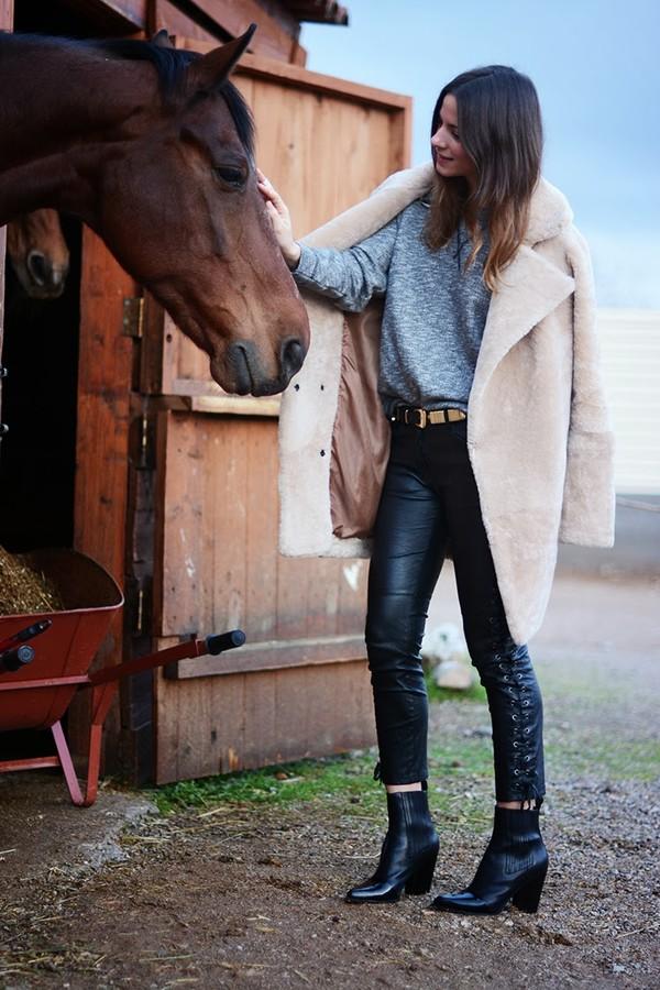 fashion vibe pants shoes bag sweater coat belt