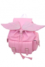 Winged Baby Blue and Pink Sid Backpack | Lostmannequin