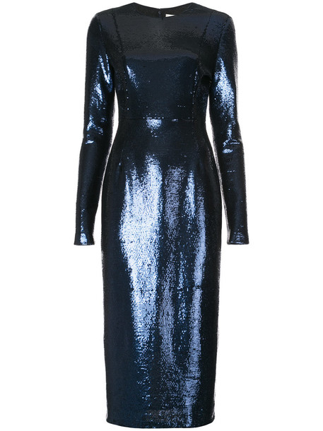 Dvf Diane Von Furstenberg dress sequin dress women blue