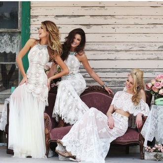dress prom dress wedding dress white dress lace dress style