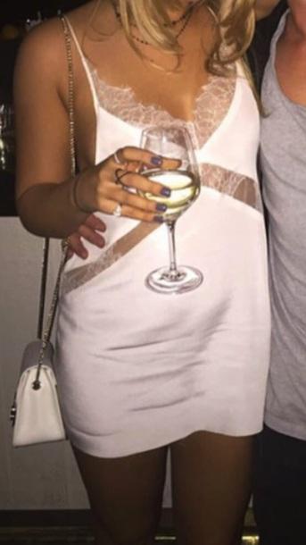 dress white dress white silk lace