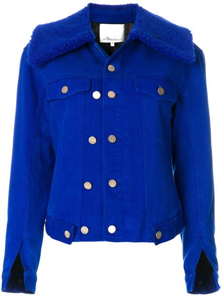 3.1 Phillip Lim jacket denim jacket denim women cotton blue