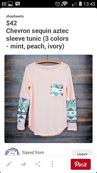 top long sleeves pink tunic top