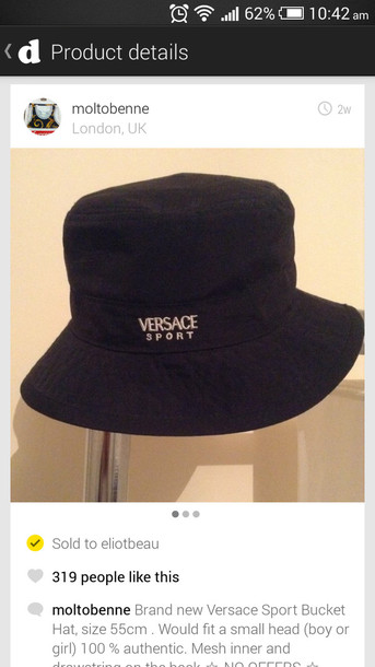 af27fcb53de34 hat versace bucket hat