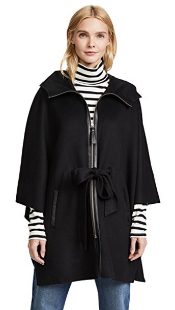 mackage cape black top