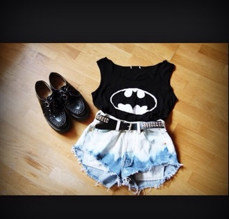 batman outfit shorts shoes