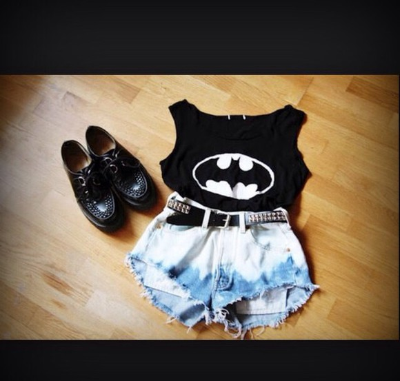 batman outfit shorts