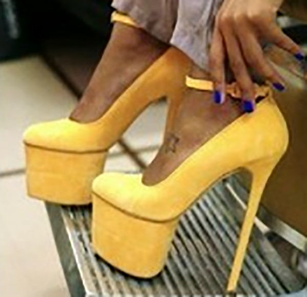 shoes high heels high heels yellow