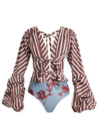 bodysuit cotton purple underwear