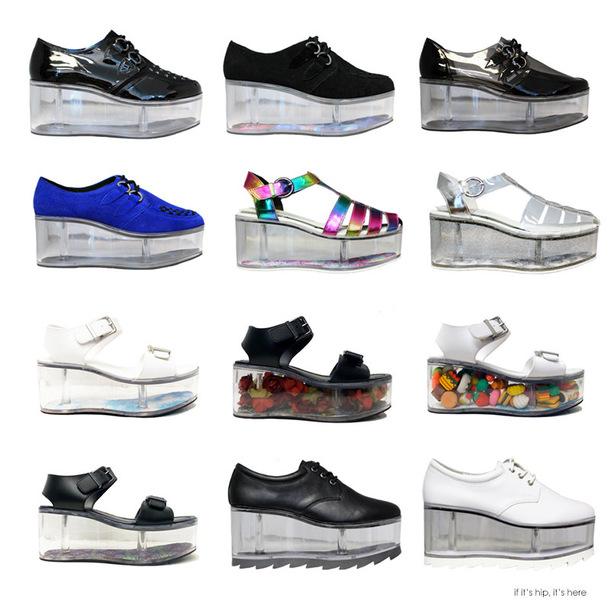 shoes platform shoes transparent clear plastic
