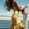 Yellow sexy dress - bqueen lace  waist hollow dandage | ustrendy