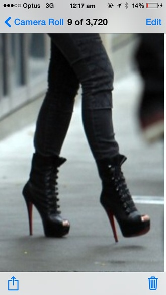 shoes boots open toes high heel