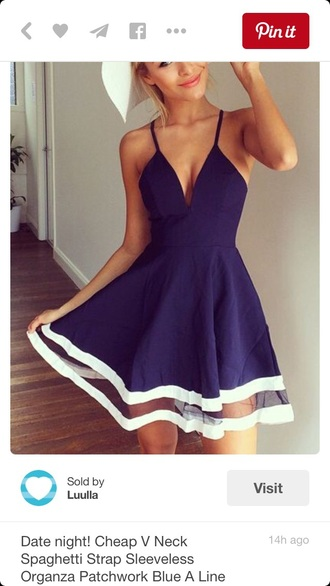 dress navy blue dress navy navy dress spaghetti strap v neck dress short dress
