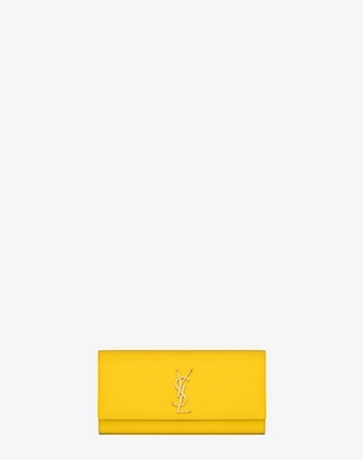 bag yves saint laurent clutch yellow