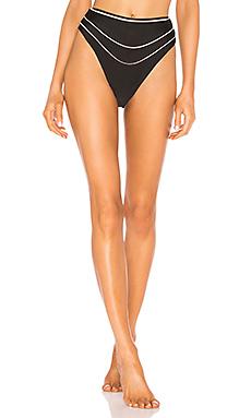 lovewave Balin High Waist Bottom in Black & Nude from Revolve.com