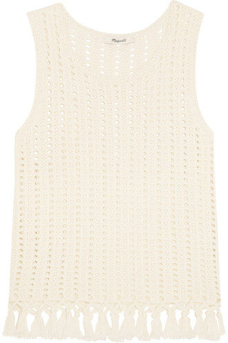 top knit open cotton cream
