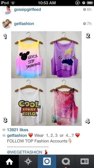 tank top cami disney toy story galaxy print adventure time crop tops style summer