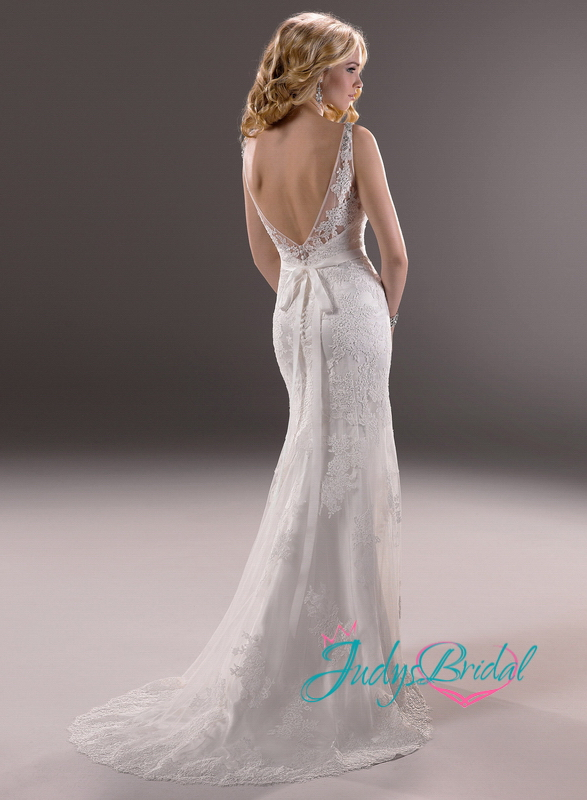 JW13278 sexy deep v back lace sheath/mermaid wedding dresses  JW13278  :