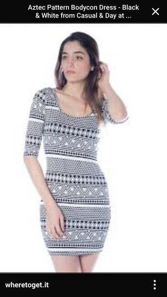 dress black and white tribal