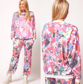 pink barbie asos tracksuit sold out top
