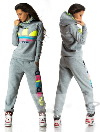 jumpsuit adidas multi colored rainbow hoodie jacket pants tracksuit sportswear swag outfit