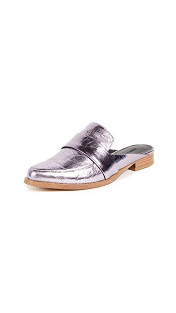 Rebecca Minkoff metallic loafers pale lilac shoes