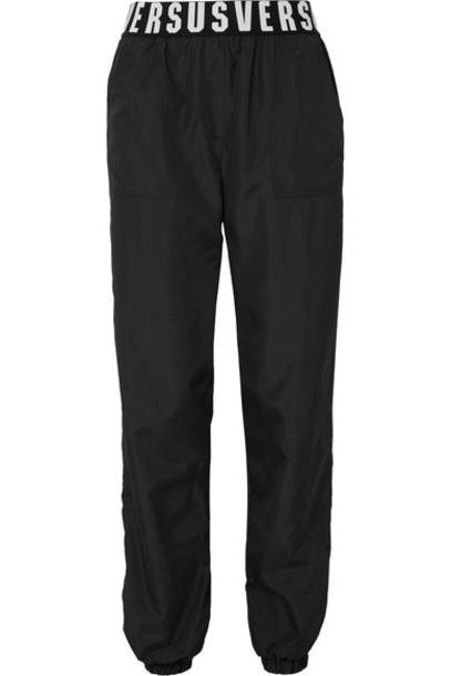 Versus Versace pants track pants shell black