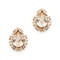 Oscar de la renta tiered crystal button earrings - silk