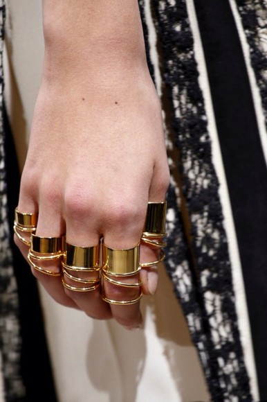 jewels balenciaga gold rings