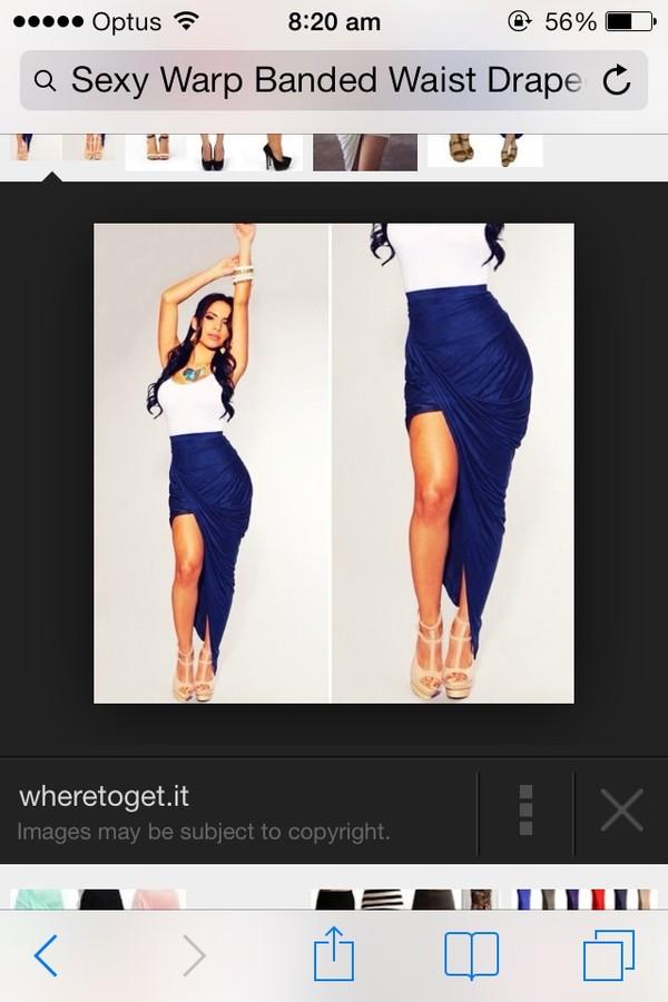 shirt skirt band waisted asymmetrical tight hi low skirt