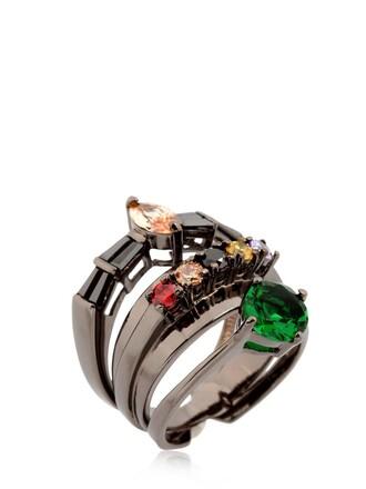 ring mandala black jewels
